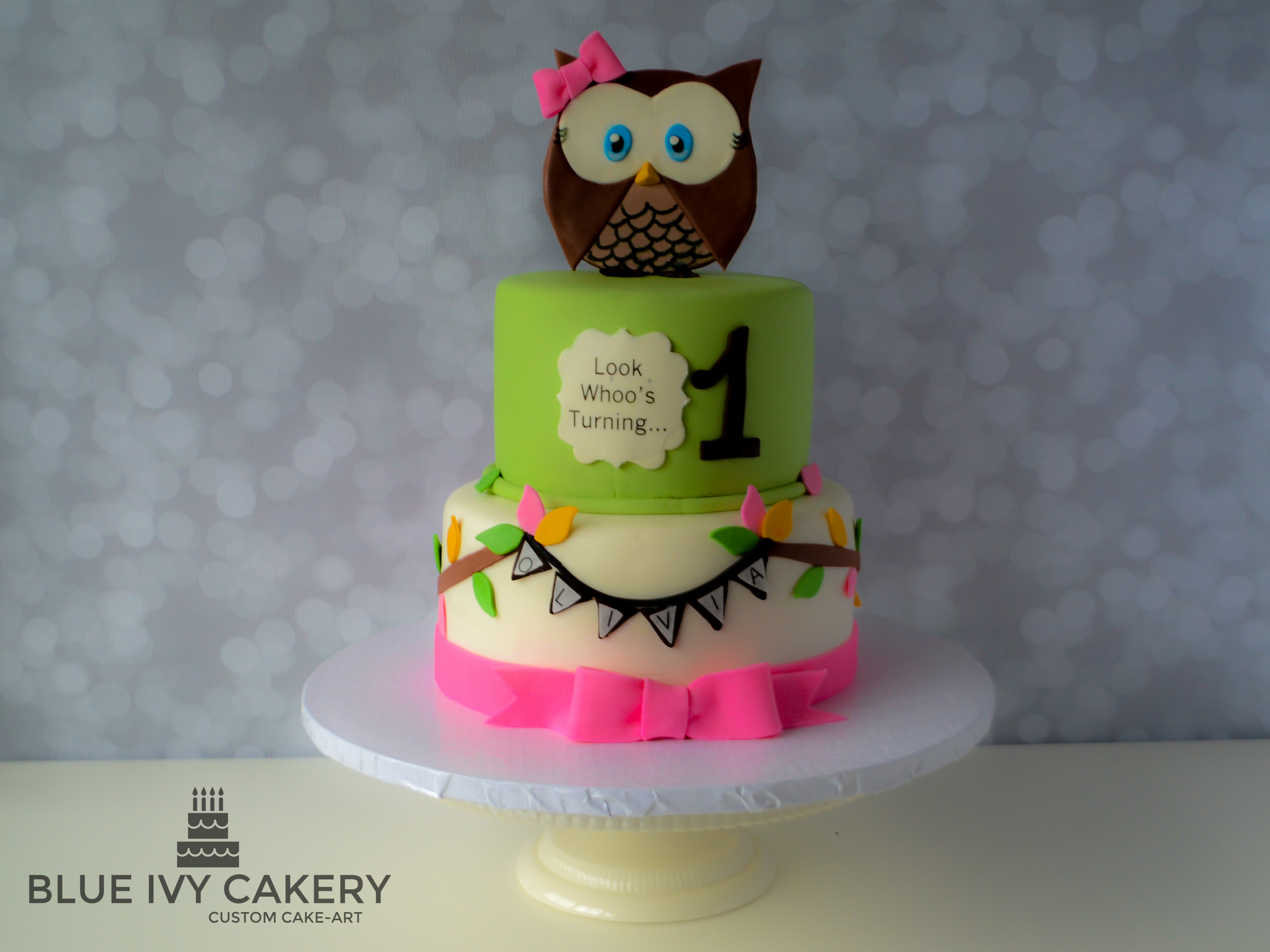 Incredible Look Whoos Ordering Again Owl Theme Birthday Cake Blue Ivy Cakery Personalised Birthday Cards Veneteletsinfo